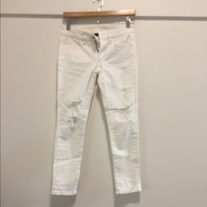 AE White Crop Jeggings